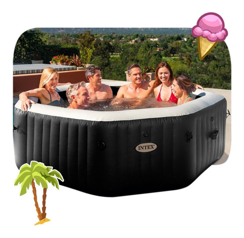Spa Inflable New Burbuja Terapia+jets Deluxe 6personas Intex