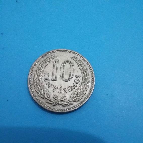 Moneda De 10 Centimos Del Año 1953 De Uruguay