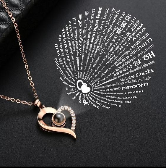 Collar Romántico Proyección Te Amo 100 Idiomas As Picture