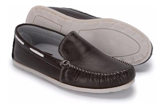 Sapato Clássico Mocassim Couro Legítimo Sapatilha 022
