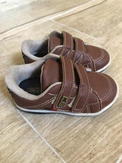 Sapatênis Tênis Velcro Sapato Infantil Menino Klin Usado
