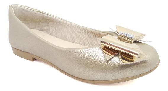 Sapatilha Infantil Menina 28 A 34 Sapato Laço De Fabrica 685