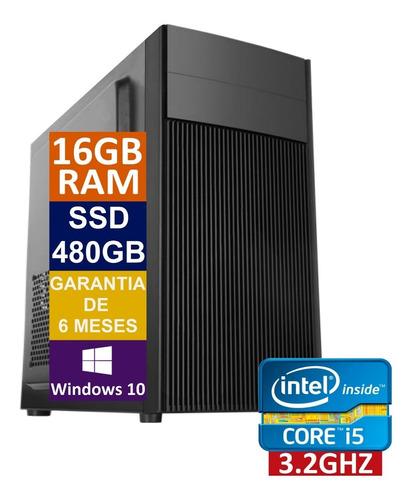 Pc Computador Cpu Intel Core I5 Ssd 480gb / 16gb Memória Ram