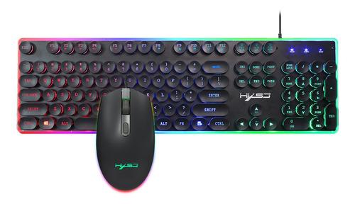 Hxsj V300y Backlight Colorido Teclado Para Jogos Teclado