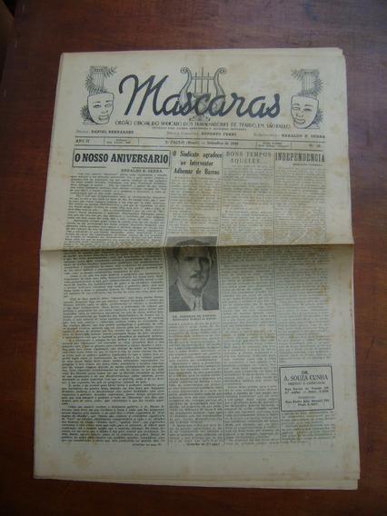 Jornal Antigo Mascaras São Paulo / Nº 10 / 1940