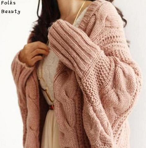 Cardigan Comprido De Lã - Importado