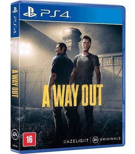 Jogo A Way Out Playstation 4 Ps4 - Mídia Fisica Original