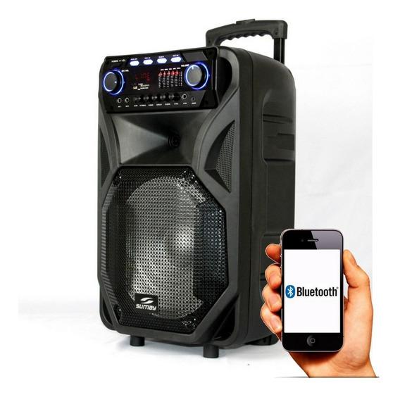 Caixa De Som Bluetooth Sumay Thunder - 4000w Amplificada