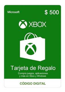 Tarjeta De Regalo Xbox Por $ 500 Pesos Argentinos