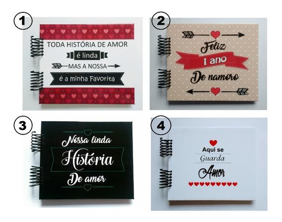 Álbum Scrapbook Presente Namorados Casados - Vários Modelos!
