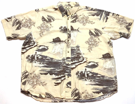 Camisa Hawaiana Floreada Tropical Surf Talle Xl 1859
