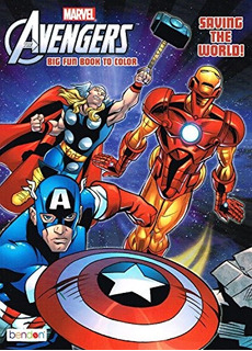 Marvel The Mighty Avengers Coloring Book ¡salvando El Mund