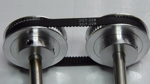 1 90mm 2 correas dentadas cerradas GT2 de 6 mm de ancho dependiendo del tama/ño