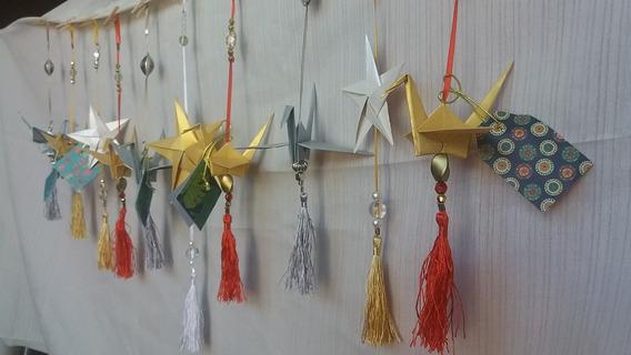 Souvenir Navidad Origami Movil Grullas