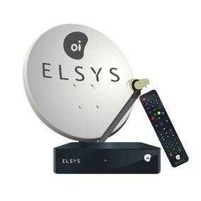 Receptor Elsys Oi Tv Livre Hd + Antena Lnb Duplo 18m Cabos.