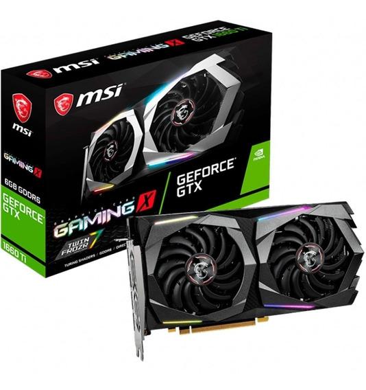 Placa De Vídeo Msi Nvidia Geforce Gtx 1660 Ti Gaming X 6g, G