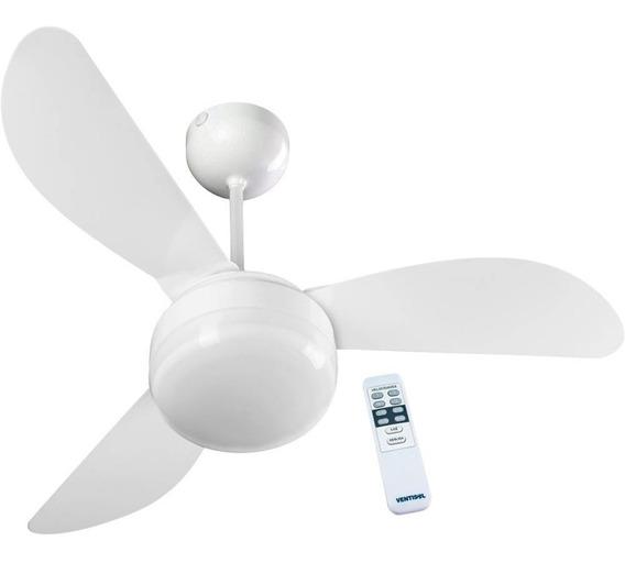 Ventilador De Teto Fênix Branco 3v Controle Remoto Ventisol