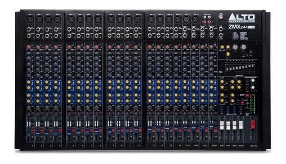 Mesa De Som Mixer Profissional Alto Zmx 244 Fxu Usb
