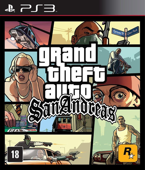 Gta San Andreas Hd Grand Theft Auto - Jogos Ps3 Playstation 3