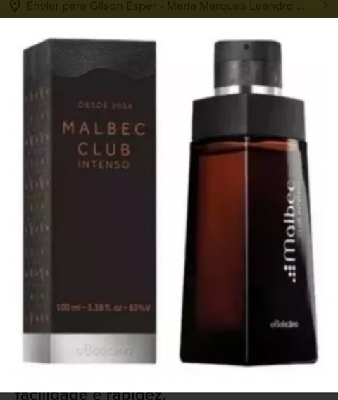 Perfume Malbec Club Intenso Masculino 100 Ml