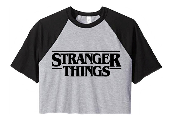 Remera Stranger Things Pupera Corta Logo Letras