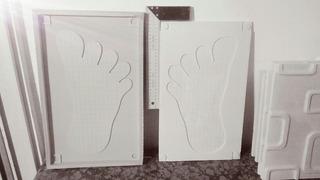Molde De Goma Placa Antihumedad 25x50x1,5 Modelo Big Foot