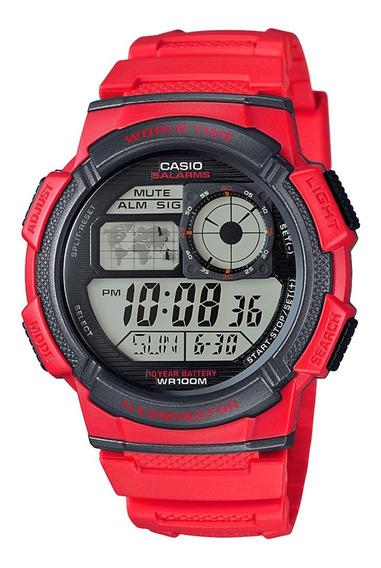 Relógio Casio Digital Original Ae-1000w-4av A Pronta Entrega