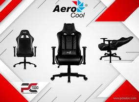 Sillas Gamer Aerocool Alpha Negro / Inlucye Envio