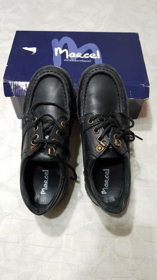 Zapatos Colegial Marcel Color Negro T 37