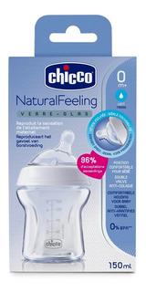Mamadera De Vidrio Chicco 150 Ml Natural Feeling Anticolico