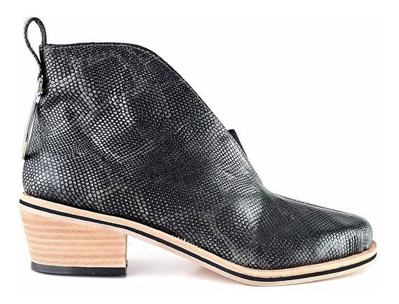 Bota Mujer Piton Botineta Briganti Texana Zapato Mcbo24981