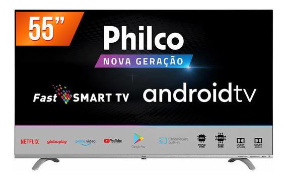 Smart Tv Led 55 Ultra Hd 4k Philco Ptv55q20agbl 3 Hdmi 2 Usb
