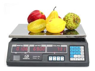 Balança Digital 40kg P/ Hortifrutii,cozinha/ Nota Fiscal