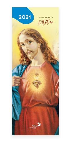 Imagen 1 de 3 de Pequeño Calendario Católico 2021  Por 6 Unidades