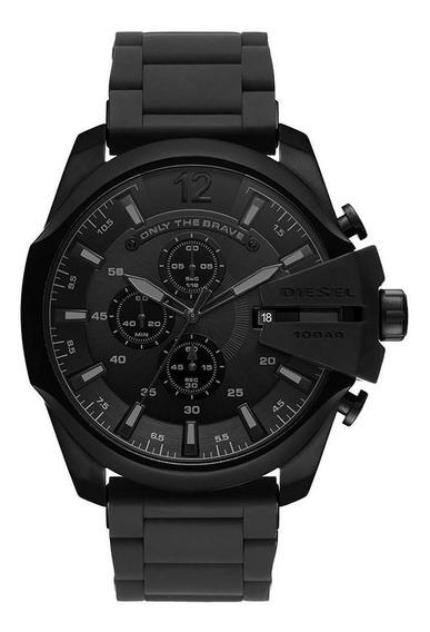 Relógio Diesel Masculino Silicone Black Preto Dz4486/1pn