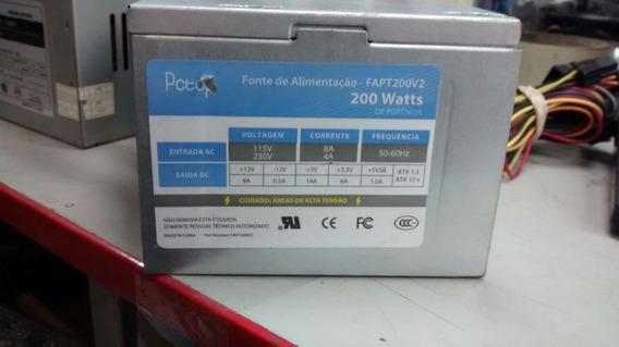 Fonte 24 Pinos +sata Atx Pc Top Fapt200v2 200w