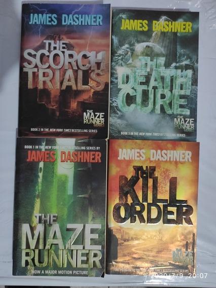 The Maze Runner Séries Coleção 04 Livros Escrito Em Inglês
