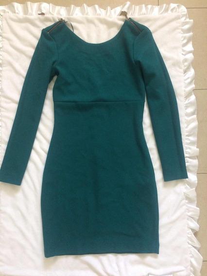 Vestido Dama Zara Oferta Verde Esmeralda