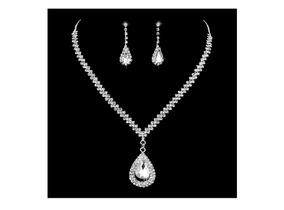 66e5a4f2a680 Gargantilla Aretes Gota Cadena Petatillo Cristal Precioso