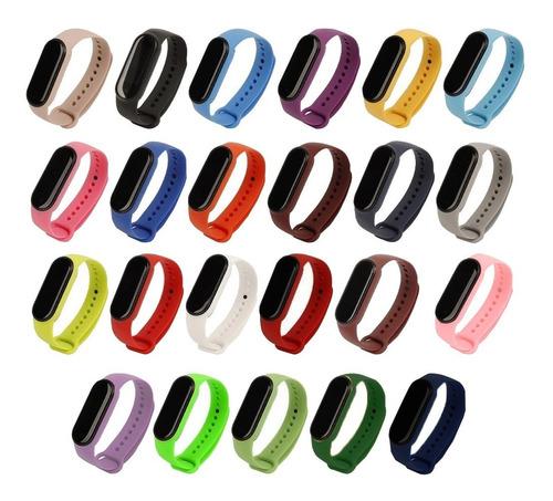 Imagen 1 de 2 de Malla Silicona Correa Pulsera Para Xiaomi Mi Band 5 Colores