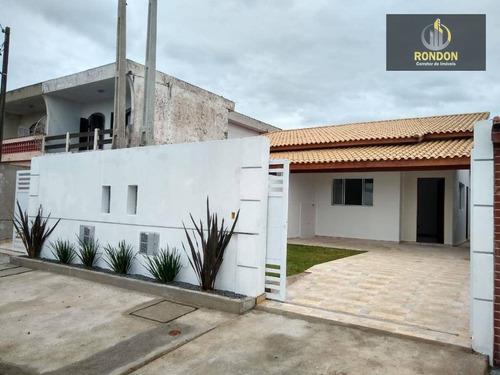 Casa Com 2 Dormitórios À Venda, 70 M² Por R$ 247.000 - Jardim Cibratel - Itanhaém/sp - Ca1128