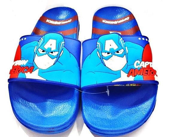 Ojotas Capitan America Azul Marvel Comics Fty Calzados