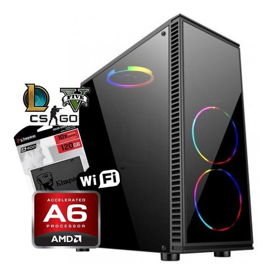 Pc Gamer Barata Amd A6 7480 + 8gb Ram + Ssd 120 + Radeon 2gb