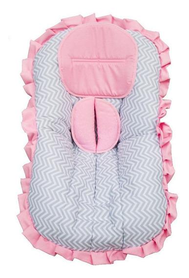 Capa De Bebê Conforto Rosa + Mosquiteiro De Bebê Conforto