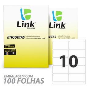 Etiqueta P/impressora Tamanho Carta C/100fls -101,6x50,8