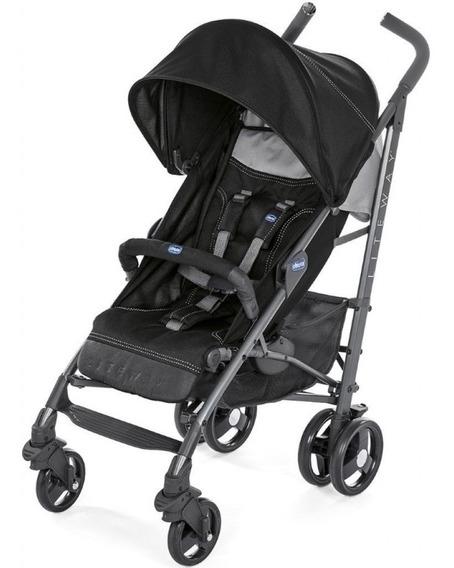 Carrinho De Bebê Chicco Lite Way 3 Basic Jet Black - 15kg