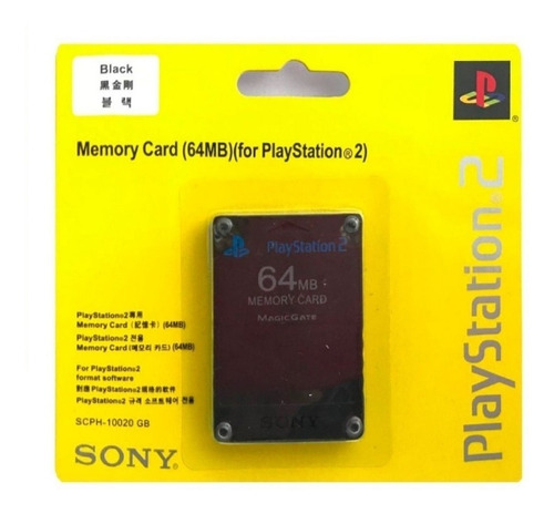 Memory Card 64 Mb Ps2 Playstation 2 Sony 100% Originales !