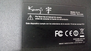 Notebook Kanji Kj 14 Repuestos Impecable!!!!