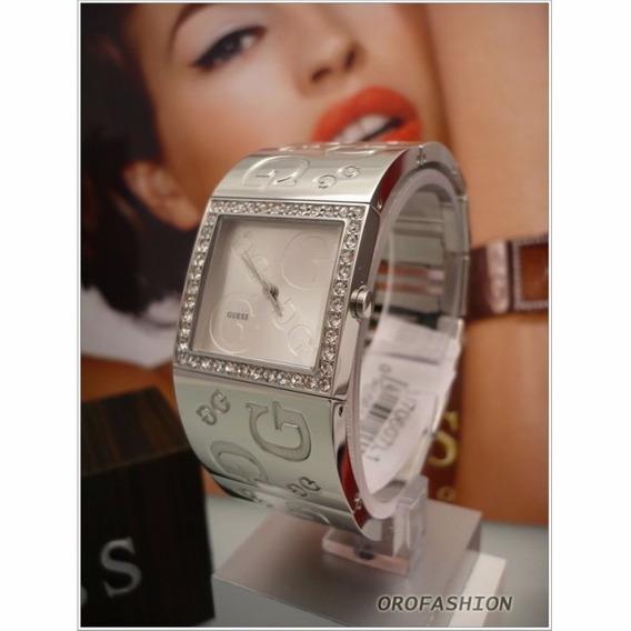 Relogio Bracelete Feminino Guess I70607l1 Prata Strass Origi