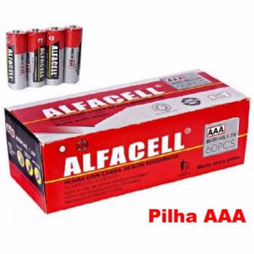 Combo Alfacell 1 Caixa Aaa + 1 Caixa Aa 120 Un Atacado